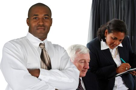 Business Team of Mixed Races at Office Stock Photo - 13617619