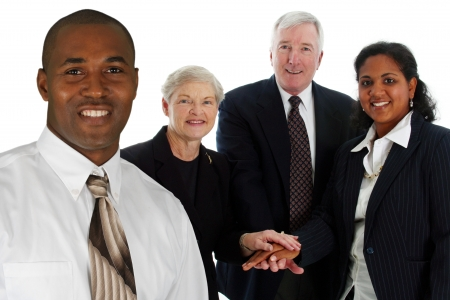 Business Team of Mixed Races at Office Stock Photo - 13617622