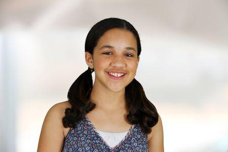 Teenage girl set against a white background Stock Photo - 13760286