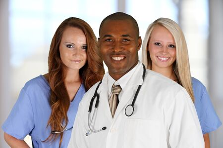 Group of doctors and nurses set in a hospital Stock Photo - 14032632