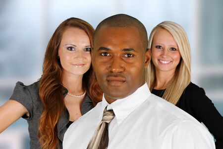 Business Team of Mixed Races at Office Stock Photo - 14032628