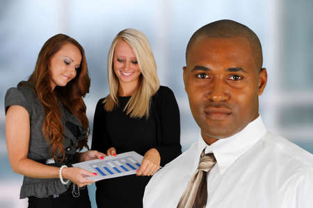 Business Team of Mixed Races at Office Stock Photo - 14032633