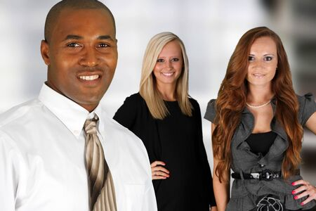 Business Team of Mixed Races at Office Stock Photo - 14032624