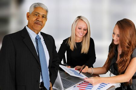 Business Team of Mixed Races at Office Stock Photo - 14032627