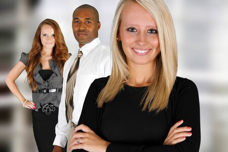 Business Team of Mixed Races at Office Stock Photo - 14032631