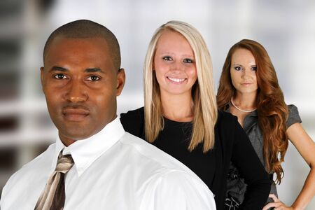 Business Team of Mixed Races at Office Stock Photo - 14032625