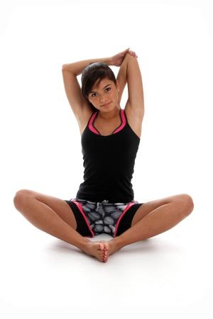 Teenie-Mädchen trainieren Sie im Fitness-Studio Standard-Bild - 14230659