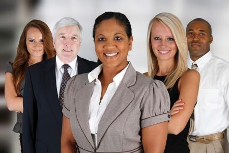 オフィスで混合競走の事業チーム 写真素材