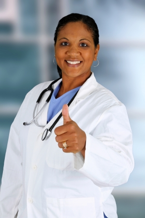 Minority doctor working at her job in a hospital Stock Photo - 14666153