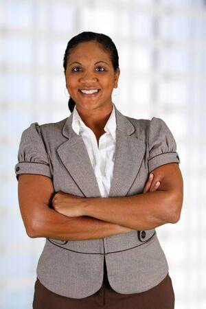 Businesswoman working at her office by herself Zdjęcie Seryjne