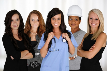 People of all different races and professions Stock Photo