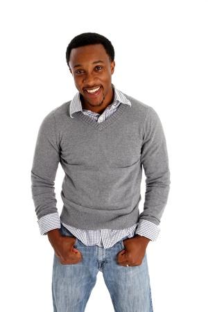 Casual man afgebeeld op een witte achtergrond