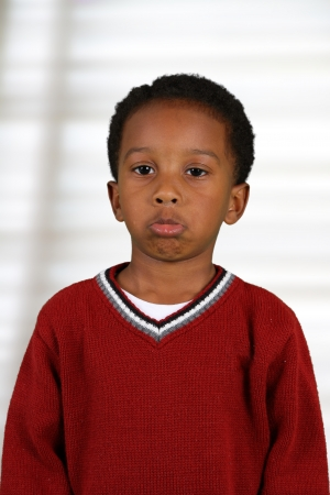 Portrait of a boy who is inside his home Stock Photo - 17133449