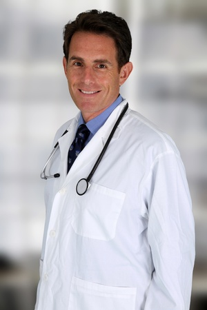 Caucasian male doctor working in a hospital Stock Photo - 17457109