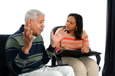 counsellor: Person in need having a counseling session