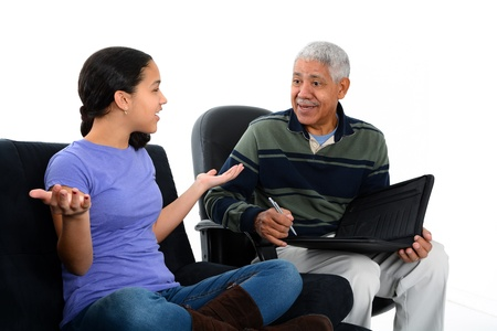 Person in need having a counseling session photo