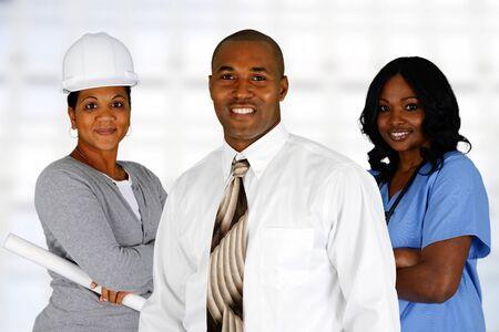 minor�a: Minority equipo de ocupaciones diferentes, todos juntos