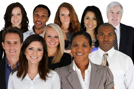 Business Team of Mixed Races at Office Stock Photo - 19943828