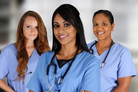 enfermeria: Grupo de enfermeras ambientada en un hospital Foto de archivo