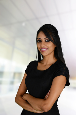 african american woman business: Businesswoman working at her office by herself Stock Photo