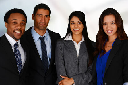 Business Team of Mixed Races at Office photo