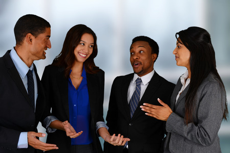 minority: Business Team of Mixed Races at Office