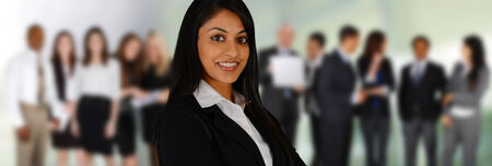 Business Team of Mixed Races at Office Stock Photo - 26979041