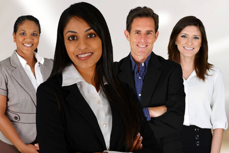 Business Team of Mixed Races at Office Stock Photo - 28804500