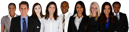 Business Team of Mixed Races on a white background Stock Photo - 28804502