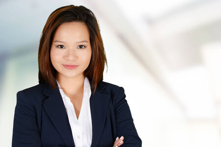 minority: Business woman at the office ready to work Stock Photo