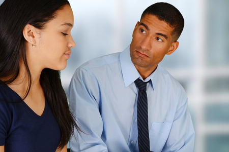 Person in need having a counseling session Stock Photo - 29008211