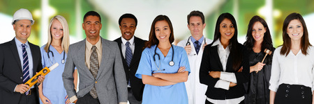Team van werknemers samen in een kantoor omgeving Stockfoto - 29616107