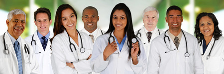 Group of doctors and nurses set in a hospital Stock Photo - 29644867
