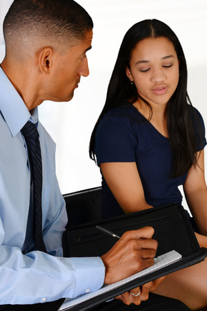 Person in need having a counseling session Stock Photo - 30185595