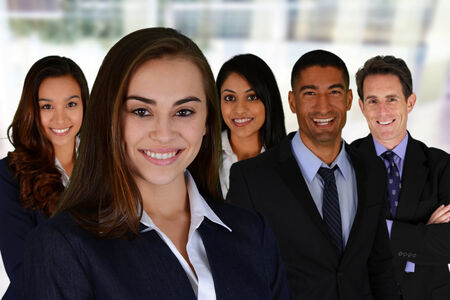 minorities: Business Team of Mixed Races at Office
