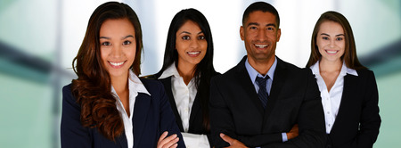 Business Team of Mixed Races at Office Banco de Imagens - 35414950