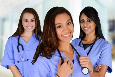 病院で看護師のグループ設定 写真素材