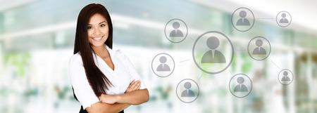 Femme d'affaires au bureau prêt à travailler Banque d'images - 41605662