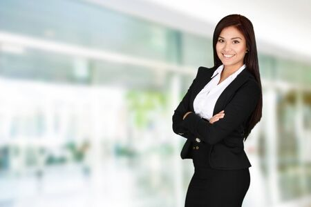 woman work: Business woman at the office ready to work Stock Photo