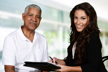 healthy seniors: Person in need having a counseling session