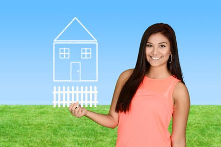 first home: A woman who is buying her first home