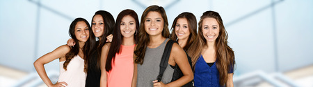 indian teenager: Group of teenage girls who are good friends