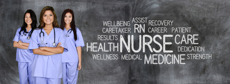 nursing staff: Female nurse ready to give medical attention