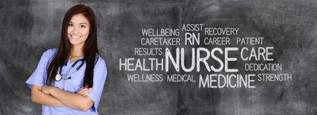 pielęgniarki: Kobieta pielęgniarki gotowi do udzielenia pomocy medycznej