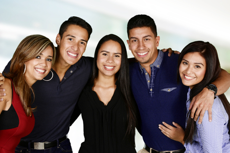 hispanic people: Group of friends who are having fun together Stock Photo