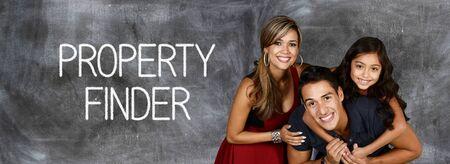 zakelijk: Familie die bereid is om vastgoed te kopen