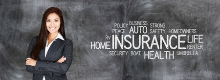 renter: Female insurance agent who is happy to be working