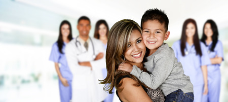 medical doctors: Family who are at the hospital waiting for care