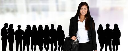 executive woman: Confident businesswoman who is ready for work