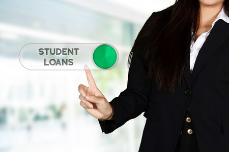 financial aid: Confident businesswoman who getting financial aid